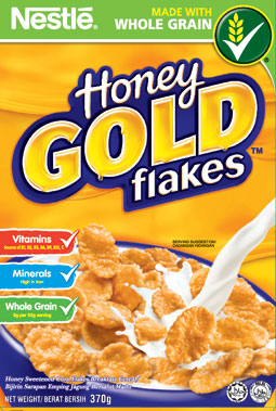 nestle honey gold flakes