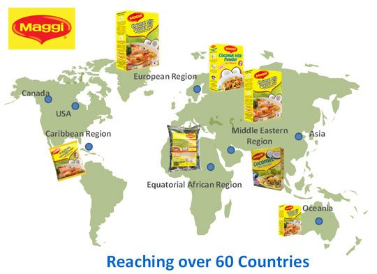 maggi reaching over 60 contries