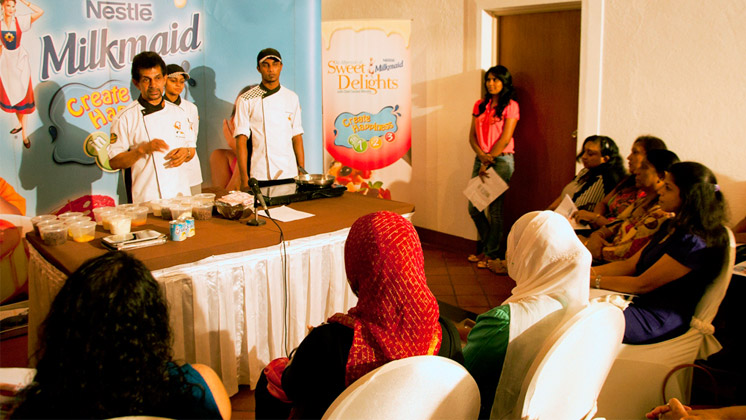 Milkmaid rewards facebook fans with an afternoon of Milkmaid sweet delights with celebrity Chef Gerard Mendis